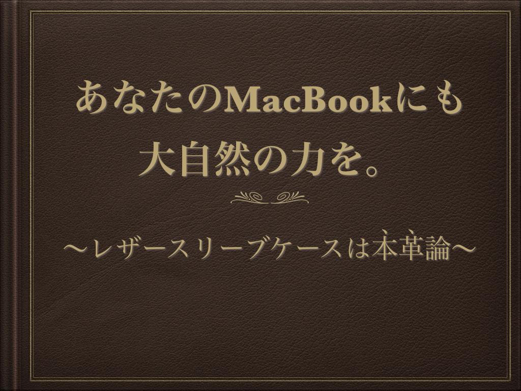 MacBook 本革 レザースリーブケース
