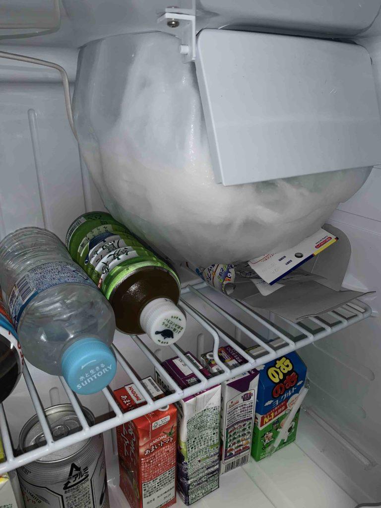 書斎 直冷式 小型 冷蔵庫 霜取り