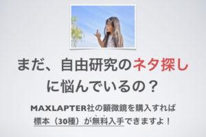 MAXLAPTER 顕微鏡 小学生 夏休み 自由研究 課題 プレパラート試料 ネタ作り 簡単 訳